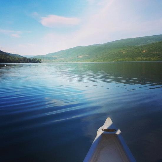 A Shuswap canoe break.