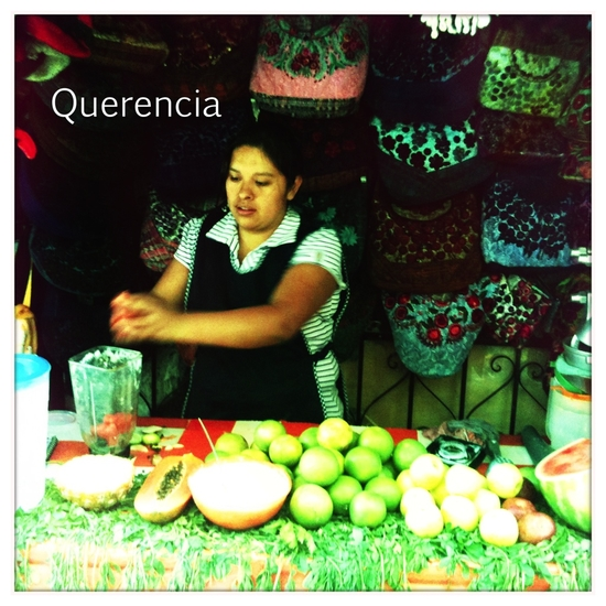 The gal who made the best agua fresco of my life in Mexico City's Ciudadela artisan market.