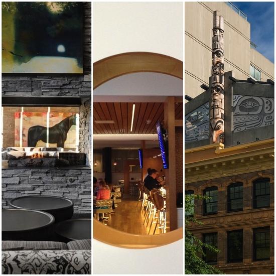 L-R: Hotel Arts, Renaissance Edmonton Airport, Skwachays Lodge