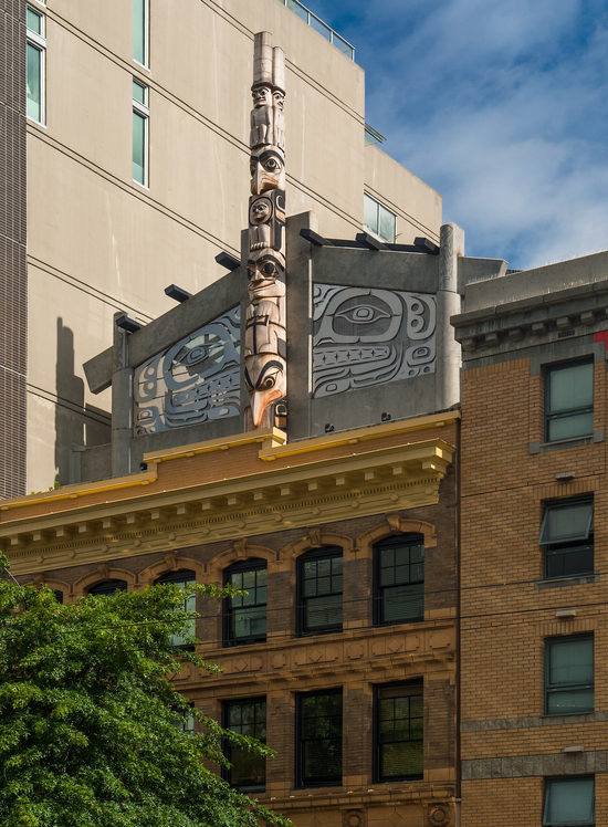 Skwachays Lodge Hotel is located one the edge of Vancouver's Chinatown.