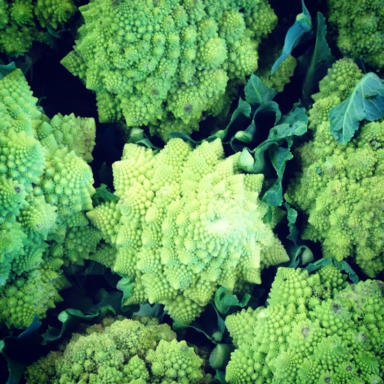 Crazy cauliflower at the Old Stratchona Farmers' Market.