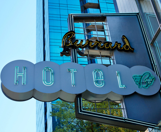 The Burrard Hotel: a hip, palm treed boutique hotel in Vancouver, BC